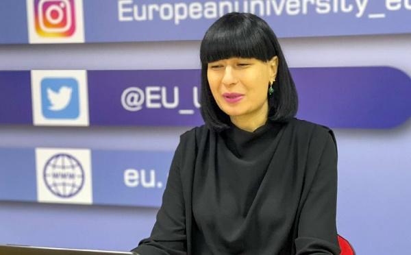 Carl Hartzell, Archil Talakvadze, and Davit Zalkaliani addressed the European University Online Winter School participants